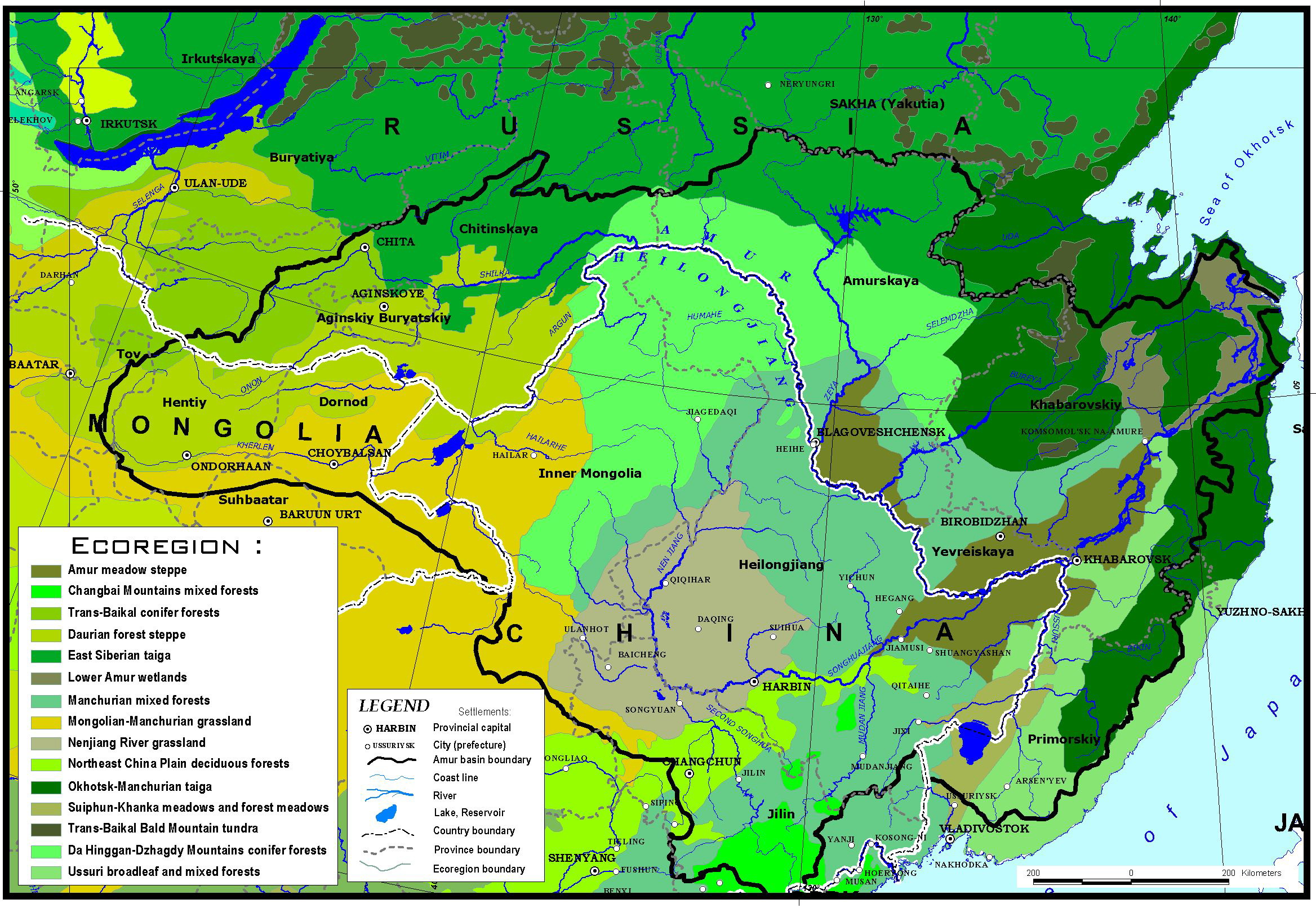MAPS ON LAND COVER ECOSYSTEMS AND ECOREGIONS